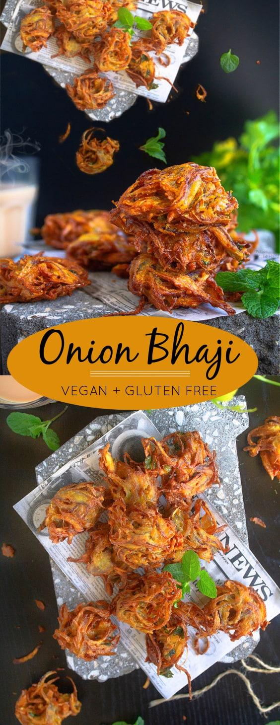 Onion Bhaji - Spiced Onion Fritters