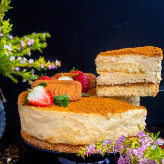Lotus Biscoff Cheesecake Cake Recipe Video