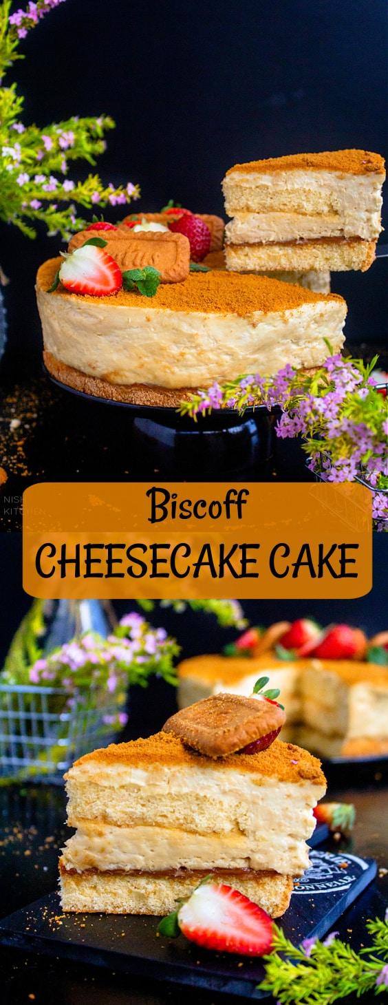 Lotus Biscoff Cheesecake Cake