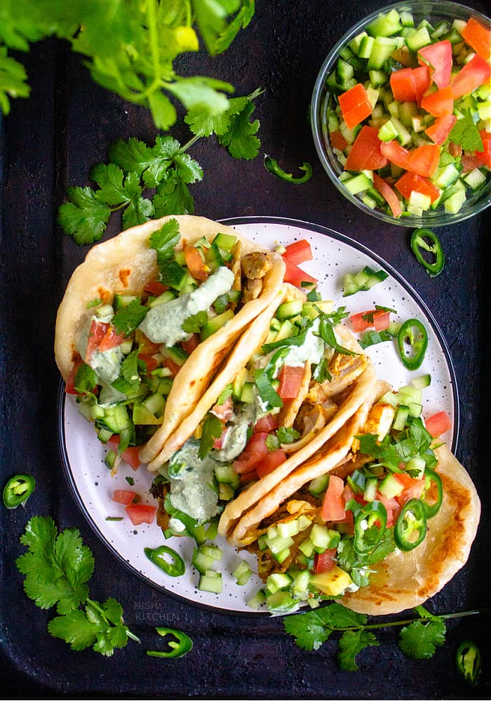 Naan tacos recipe video